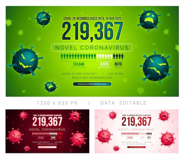 Post de mídia social de infográfico de vírus