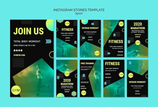 Post de mídia social de modelo de negócios de esporte