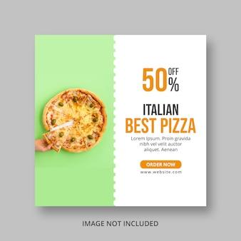 Post de mídia social de pizza