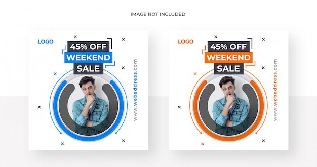 Post de mídia social de venda ou modelo de banner Psd Premium