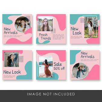 Post de mídia social modelo de coleção de moda mulher psd premium