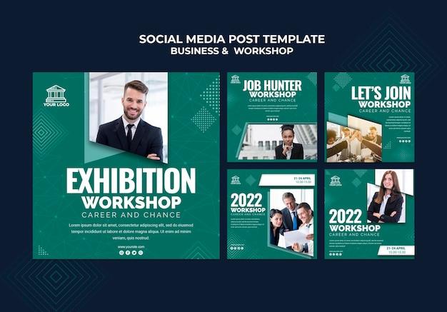 Post de mídia social para negócios e oficina