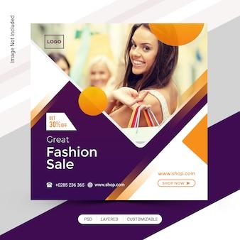 Post de venda de moda