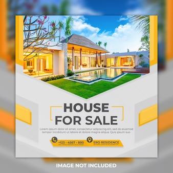 Post house em mídia social para venda e post no instagram