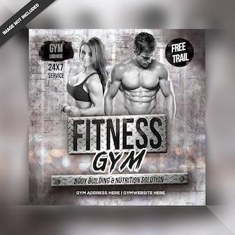 Post ou instagram do ginásio de fitness
