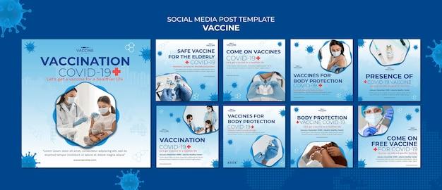 Postagem da vacina nas redes sociais