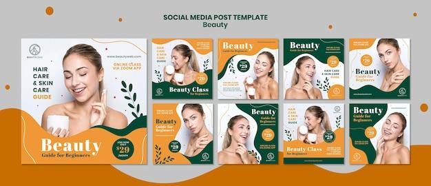 Postagem de conceito de beleza na mídia social