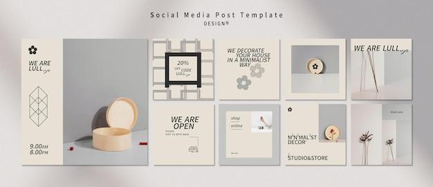 Postagem de design de interiores em mídia social