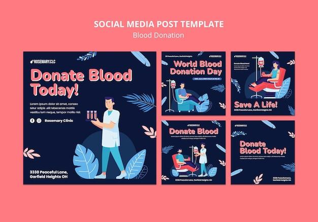 Postagem de doe sangue nas redes sociais