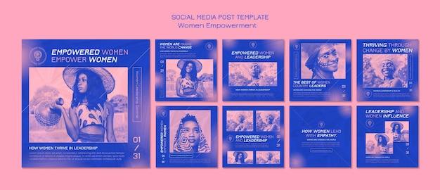 Postagem de empoderamento das mulheres na mídia social