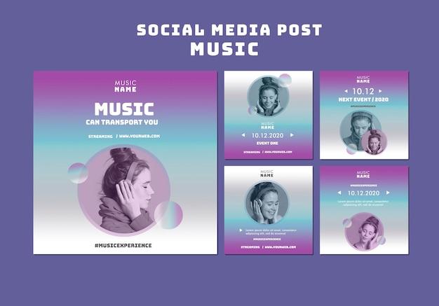 Postagem de experiência musical nas redes sociais
