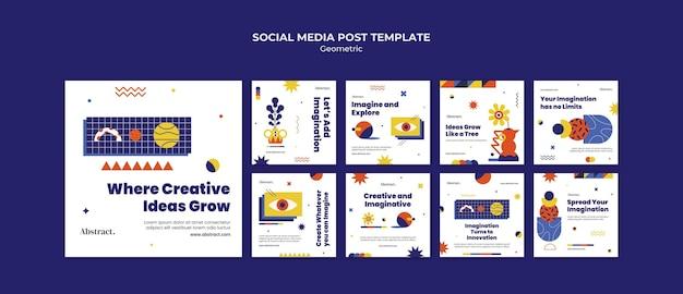 Postagem de ideias criativas na mídia social
