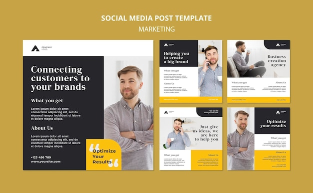 Postagem de marketing empresarial na mídia social