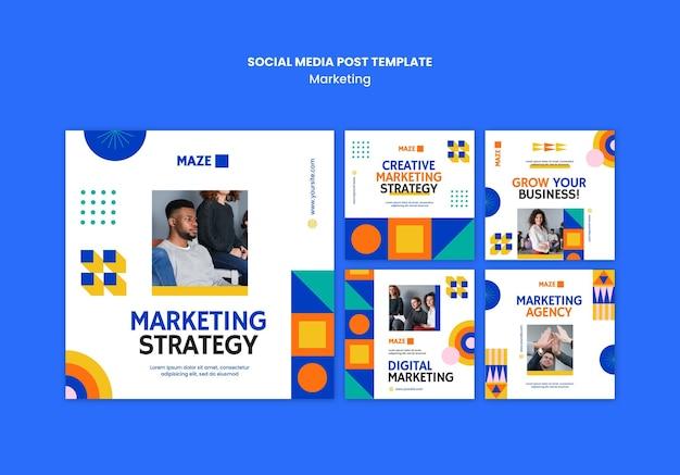 Postagem de marketing nas redes sociais