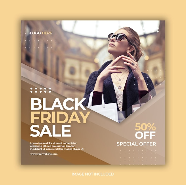 Postagem de mídia social da black friday para o modelo do instagram