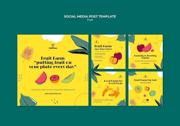 Postagem de mídia social da fruit