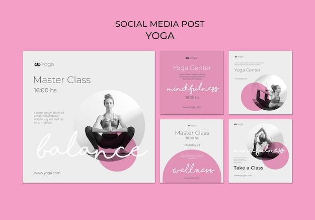 Postagem de mídia social de aula de ioga