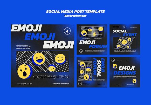 Postagem de mídia social de entretenimento emoji