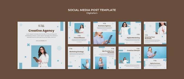 Postagem de mídia social de modelo de anúncio empresarial
