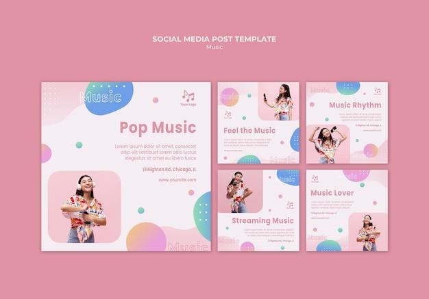 Postagem de mídia social de música e soul