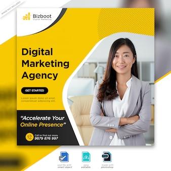 Postagem de mídia social de negócios de marketing