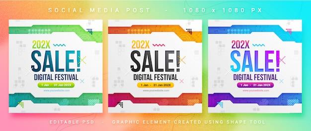 Postagem de mídia social de vendas multiuso