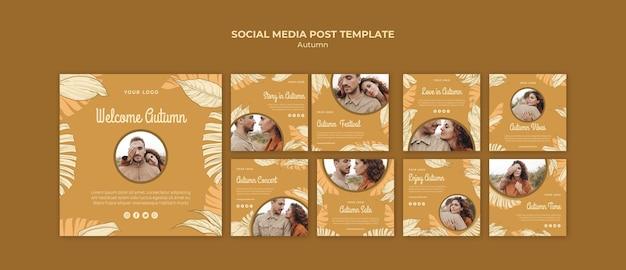 Postagem de mídia social do festival de outono