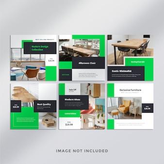 Postagem de mídia social do furniture no instagram