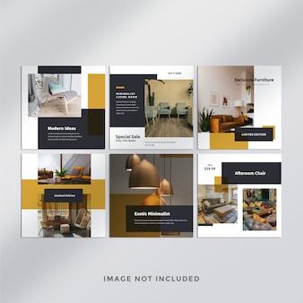 Postagem de mídia social do furniture no instagram Psd Premium