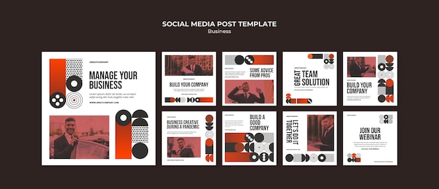 Postagem de mídia social empresarial