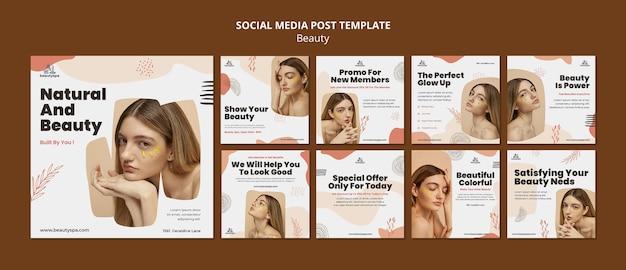 Postagem de mídia social natural e beleza