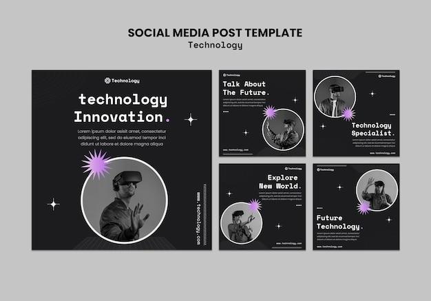 Postagem de mídia social sobre inovação de tecnologia