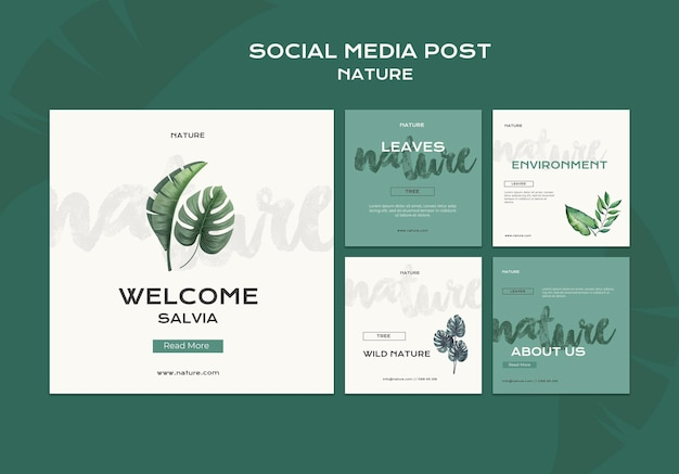 Postagem de mídia social sobre natureza selvagem