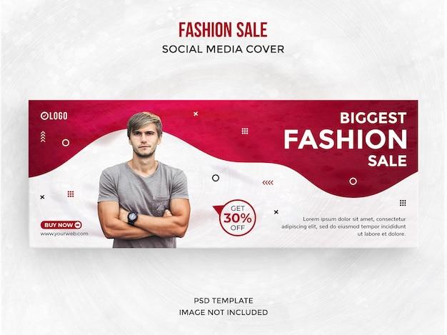 Postagem de venda de moda em mídia social ou modelo de capa do facebook