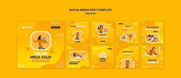 Postagem de venda de moda na mídia social