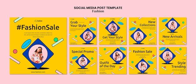 Postagem de venda de moda nas redes sociais
