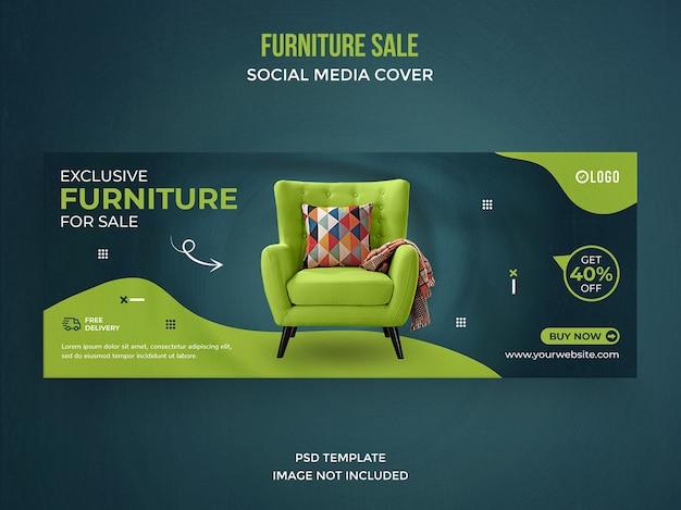 Postagem de venda de móveis em mídia social ou modelo de capa do facebook