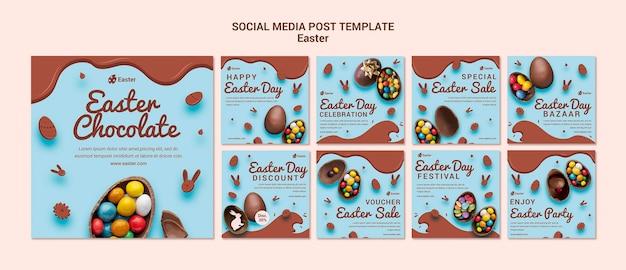 Postagem de venda nas redes sociais do dia da páscoa