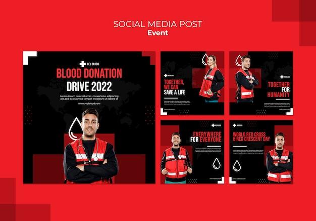 Postagem doar sangue nas redes sociais