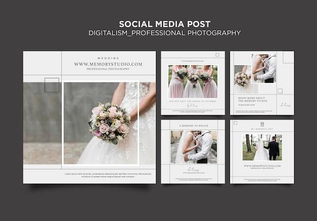 Postagem em mídia social de fotografia profissional