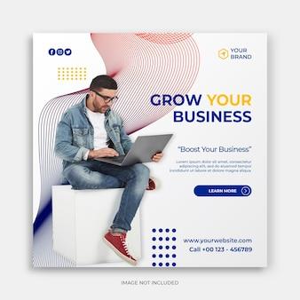 Postagem em mídia social ou modelo de banner para promoção de negócios modelo criativo de banner de mídia social