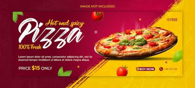 Postagem em mídia social sobre comida ou modelo de capa do facebook