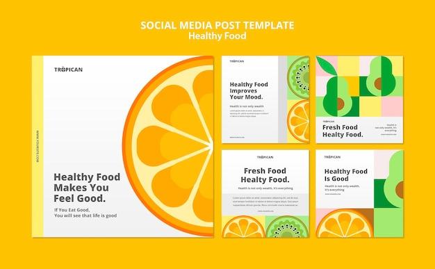 Postagem em mídia social sobre comida saudável