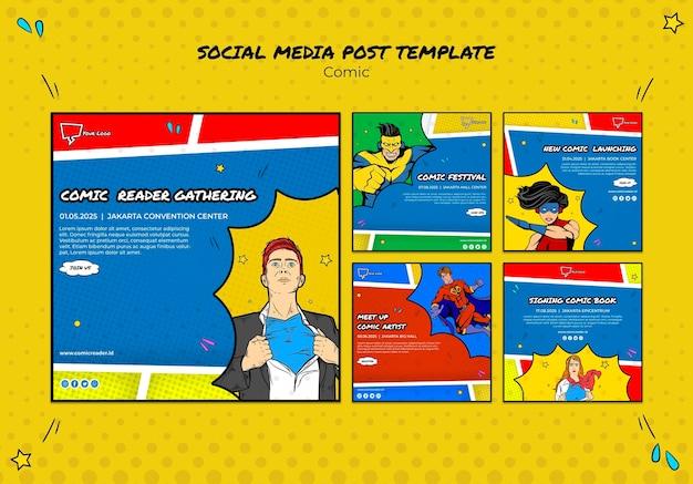 Postagem em quadrinhos na mídia social