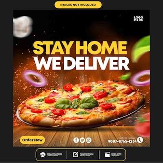 Postagem especial na mídia social da delicious pizza