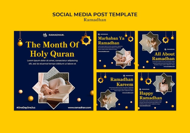 Postagem na mídia social da celebração do ramadã