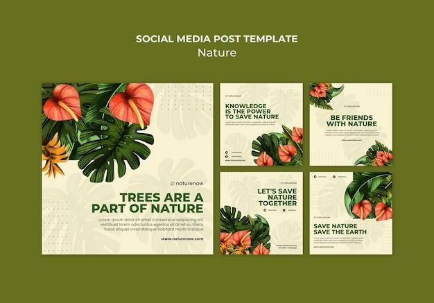 Postagem na mídia social sobre conservação da natureza