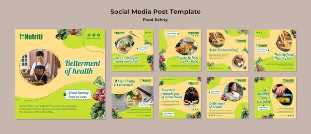 Postagem na mídia social sobre segurança alimentar