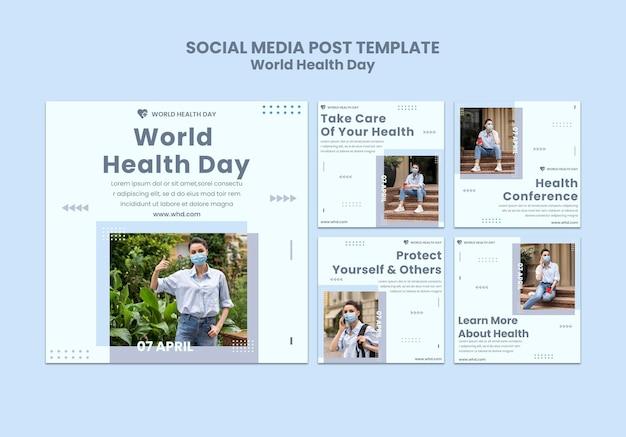 Postagem nas redes sociais do dia mundial da saúde