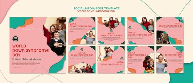 Postagem nas redes sociais do dia mundial da síndrome de down